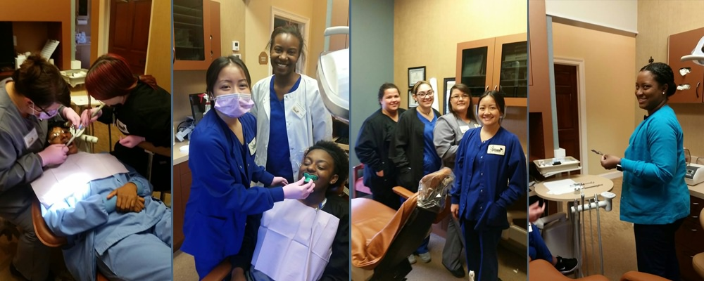 Dental assistant students from the New Orleans area at NODC School for Dental Assisting